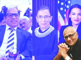 (Left) Justice AK Sikri: Are his comments valid?; Ruth Bader Ginsburg (centre) and US Congresswoman Alexandria Ocasio-Cortez: Living life full size their own way