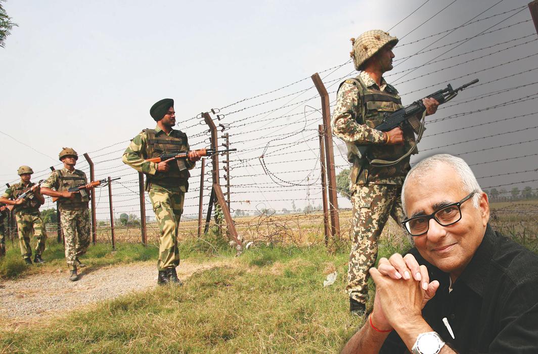 BSF jawans keeping vigil at the Attari international border/Photo: UNI