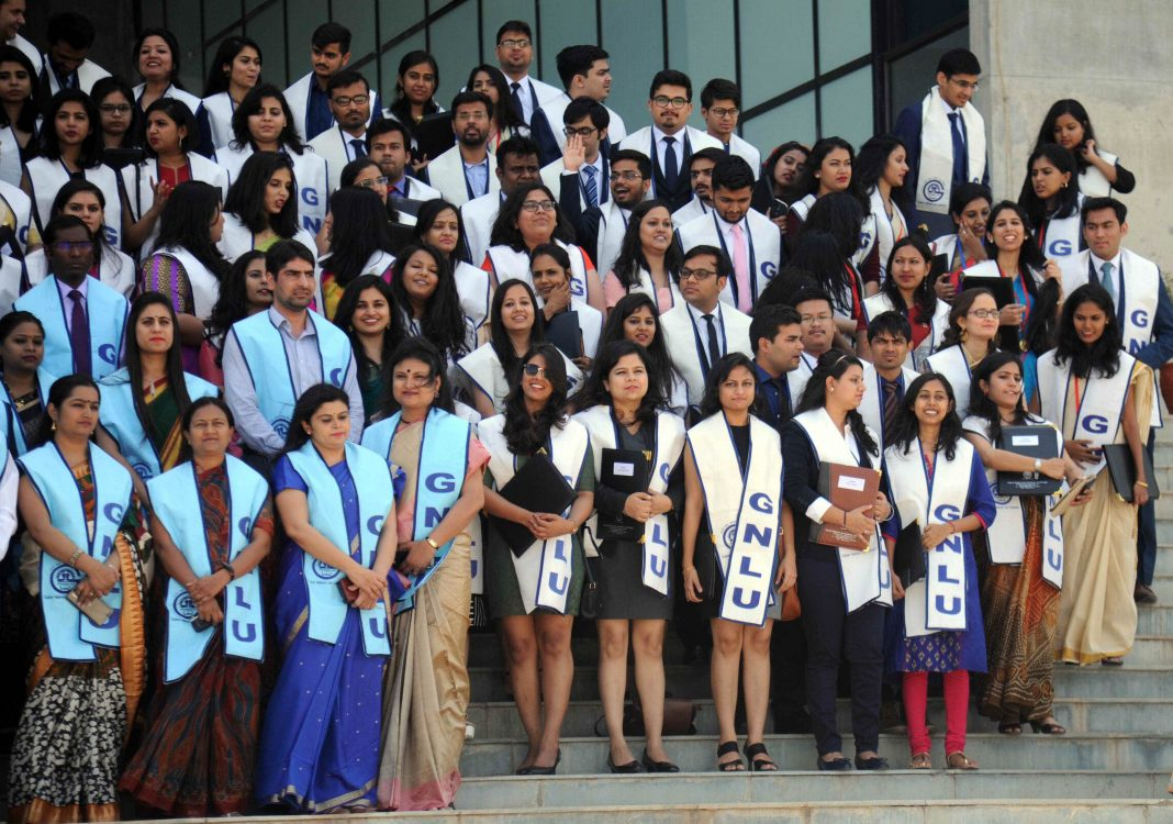 Convocation ceremony of the students of GNLU, Gandhinagar, Gujarat/Photo: UNI