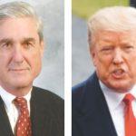 (Left) Special Prosecutor Robert Mueller; US President Donald Trump