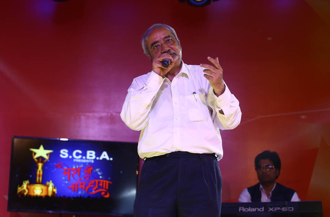 Former Additional Solicitor General of India Bishwajit Bhattacharyya performing at the event