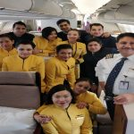 Captain JJ Nijhawan with the Jet Airways crew