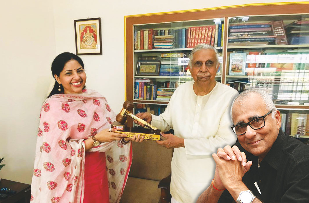 Rajshri Rai, managing director, ENC Group, with former CJI Justice MN Venkatachaliah