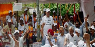 Ex-servicemen on dharna for OROP in Delhi/Photo: UNI