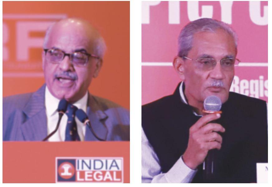 (L-R) Justice Pradeep Nandrajog and senior advocate Janak Dwarka Das at the Valedictory Session