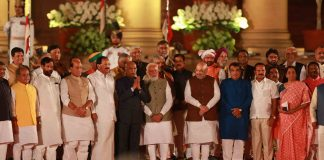 PM Modi with his council of ministers after the swearing-in ceremony on May 30/Photo: UNI