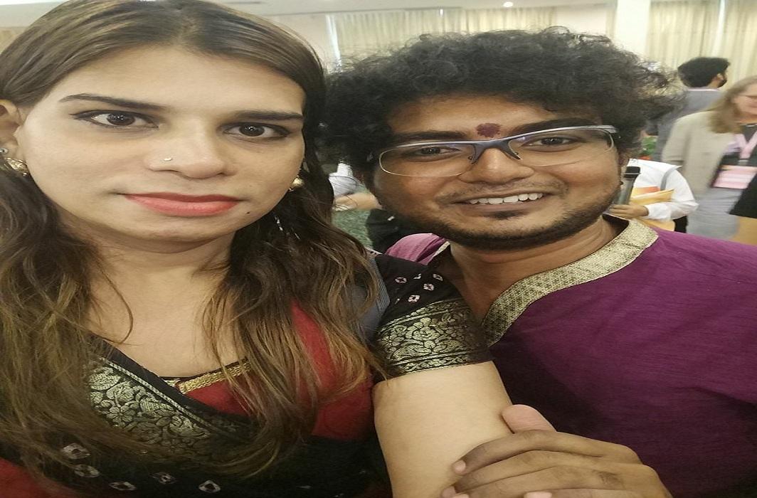 Intersex activist Gopi Shankar (right) with Zainabi Patel, a transwoman working for UNDP/Photo: @gopishankarmadurai/facebook.com