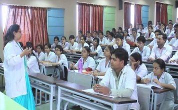 Junior doctors attending a class in a medical college/Photo: mciindia.org