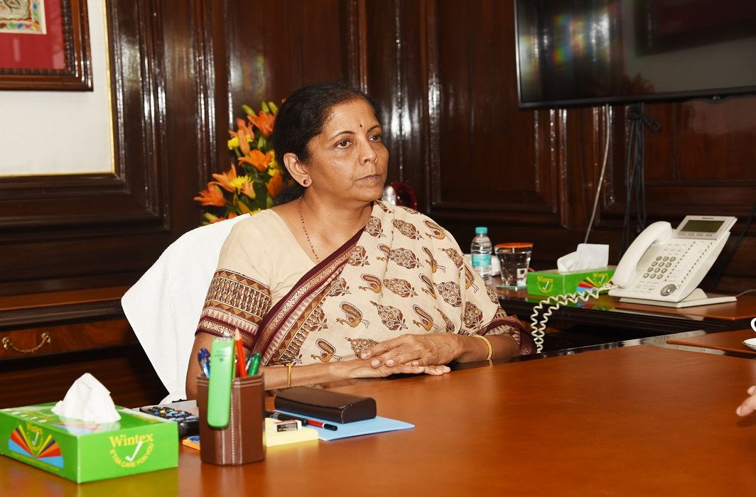 Nirmala Sitharaman taking charge as finance minister. The government's Economic Advisory Council has rebutted Arvind Subramanian's claims on India's GDP figures/Photo: PIB