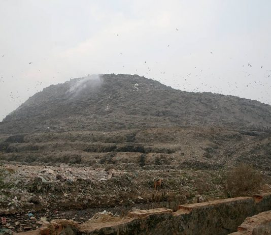 The Ghazipur landfill had exhausted its capacity in 2008 but dumping continues/Photo: Anil Shakya