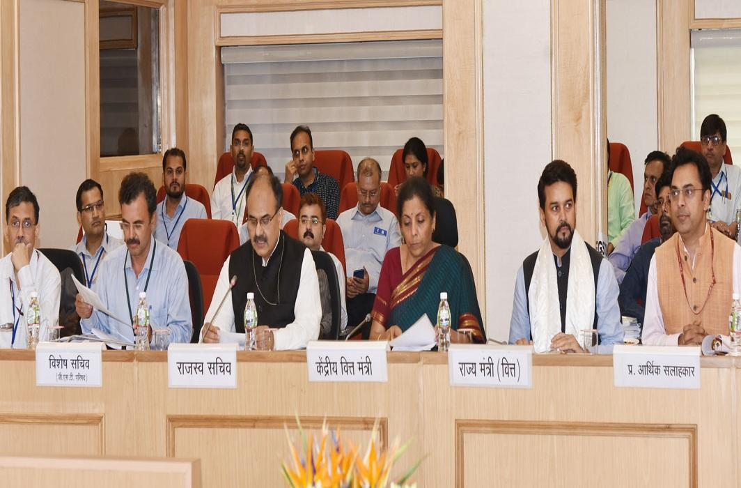 Finance Minister Nirmala Sitharaman chairing the 35th GST Council meeting in New Delhi/Photo: PIB