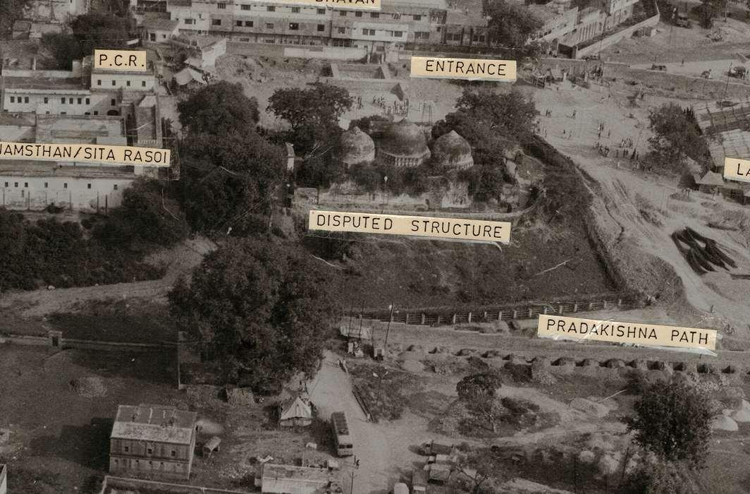 The Babri Masjid site with Ram Janmasthan and Sita ki Rasoi/Photo Courtesy: Konark Publishers