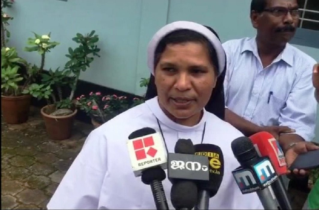 Sister Lucy Kalappura has allegedly been dismissed for speaking out against the church/twitter.com/ANI