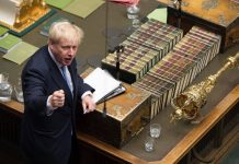 British PM Boris Johnson in the House of Commons/Photo: UNI