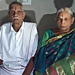Mangayamma with her husband. She is the oldest woman to give birth/Photo: ANI