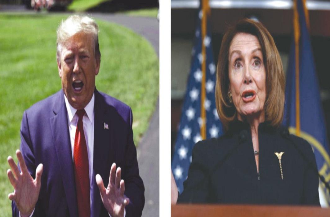 Speaker Nancy Pelosi (right) has launched an impeachment inquiry against Trump/Photos: UNI