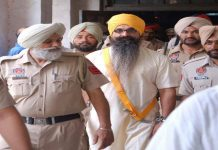 Rajoana being brought to hospital in Patiala/Photo: sikh24.com
