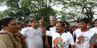 A protest by the residents of Aarey colony/Photo: UNI