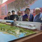 Modi and Japan PM Shinzo Abe at the function in Ahmedabad to launch the project/Photo: UNI