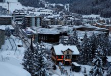 BIRD'S EYE VIEW: The congress centre of the annual meeting of the World Economic Forum (WEF) in Davos on January 15, Reuters/UNI