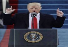 Donald Trump during his inaugural address to the people of US
