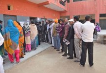 villagers boycott polls