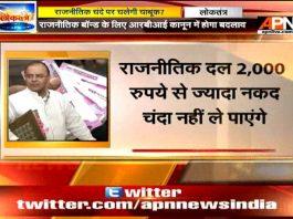 Budget 2017 changes political funding scenario in India