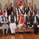 A photograph taken post signing of the Naga Peace Accord