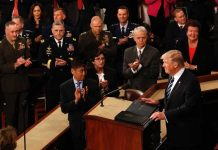 US President Trump addresses the joint session of Congress on February 28, Reuters/UNI