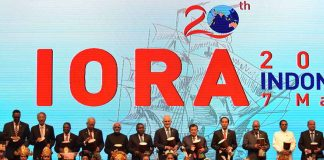 LET'S BEGIN: Vice President M Hamid Ansari at the opening ceremony of 20th Indian Ocean Rim Association Leaders' Summit, in Jakarta, Indonesia, on Thursday. President of Indonesia Joko Widodo and other leaders are also seen, UNI