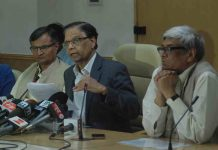 THREE-YEAR AGENDA: Vice-chairman, Niti Aayog, Arvind Panagariya, briefs mediapersons on the Draft Action Agenda for Three Years in New Delhi, UNI