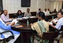 ROUND TABLE: Uttarakhand Chief Minister Trivendra Singh Rawat presides over a meeting of senior officials of the state ahead of their meeting with Niti Aayog in Dehradun, UNI
