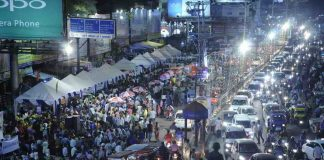 CITY LIGHTS: A view of Raatri Bazaar (Night Market) organised by Khadi Board at Albert Ekka Chowk in Ranchi, UNI