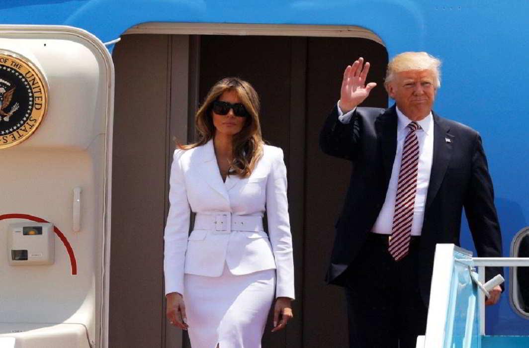 Watch: Melania Trump slaps off husband's hand in Israel!