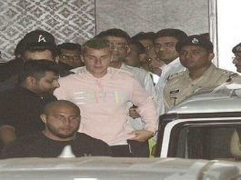 Justin Bieber arrives for maiden India show in India