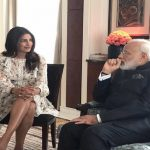Desi girl Priyanka trolled for meeting Modi in short skirt