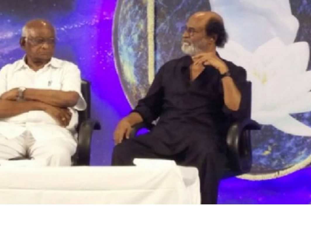 Rajini says he will enter politics if God wills