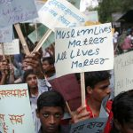 NOT IN MY NAME: Youngsters protest the lynching of 15-year-old Hafiz Junaid aboard a train between Ballabhgarh and Mathura at Jantar Mantar, New Delhi, Anil Shakya/India Legal