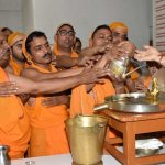 DEVOTION: Jain devotees performing jalabhisek of Lord Mahavir Swarnim Sanyam Mahotsav in Patna, UNI