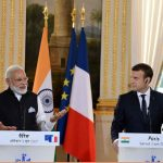 Narendra Modia and Emmanuel Macron