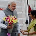PM Modi arrives india