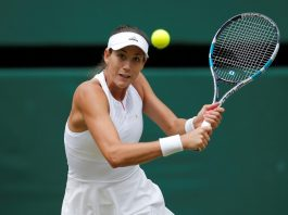 SECOND CHANCE: Spain's Garbiñe Muguruza in action during her semifinal match against Slovakia's Magdalena Rybarikova at Wimbledon, London. She will face off against five-time champion 37-year-old Venus Williams (USA) in the finals on Saturday, Reuters/UNI
