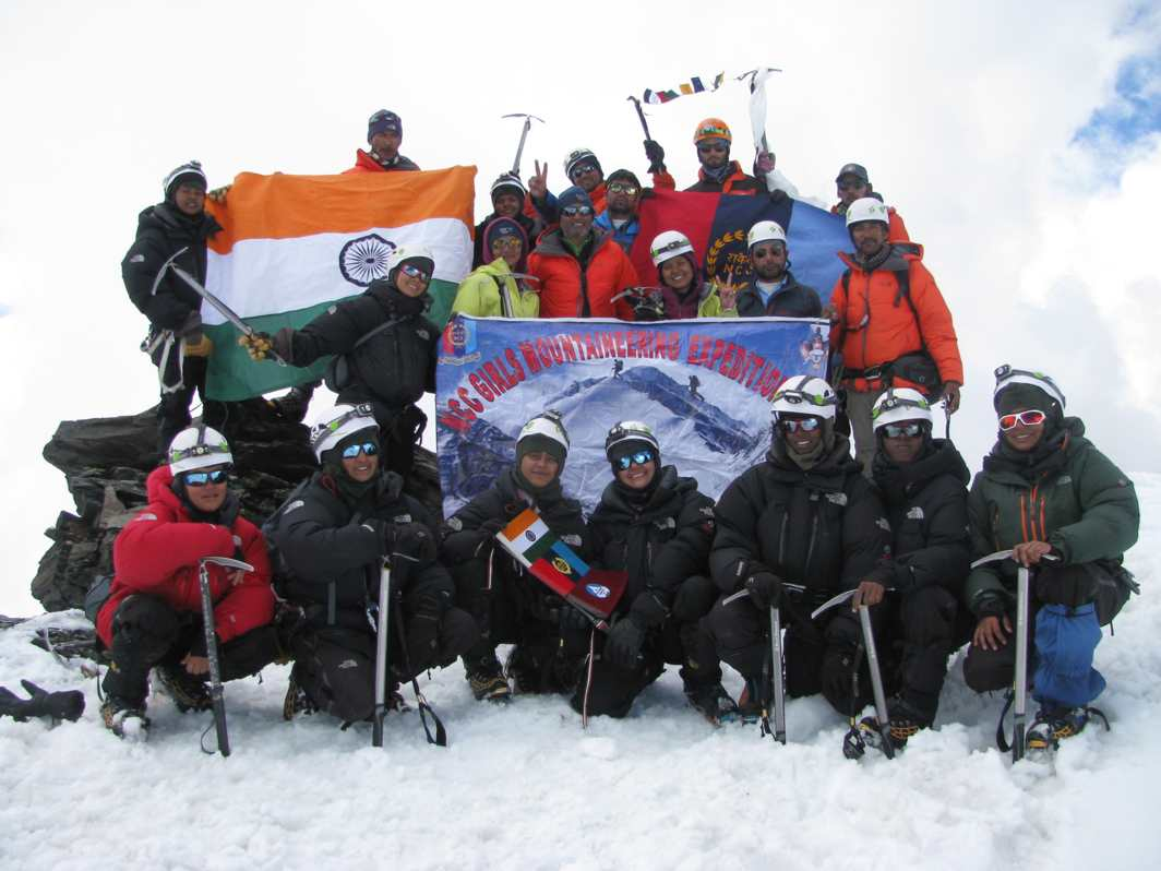 GIRLS ON TOP: The NCC Girls Expedition team on Mount Ladakhi, 5,345 metres, UNI