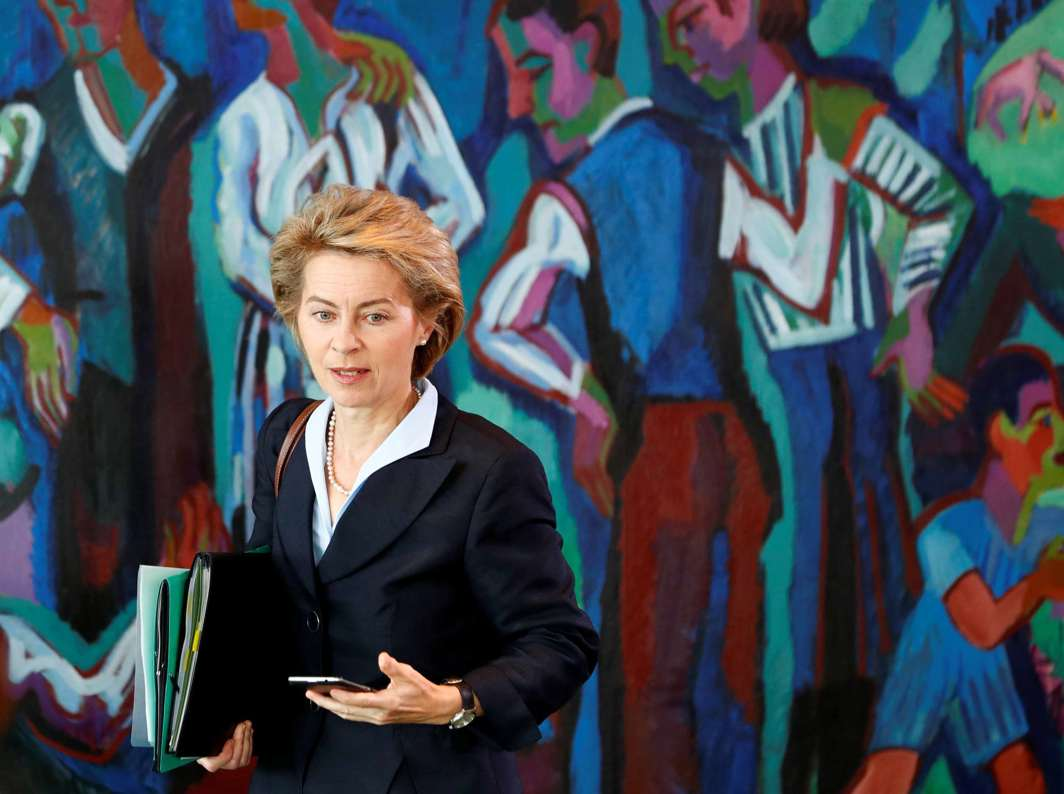 WHAT'S ON AGENDA? German Defence Minister Ursula von der Leyen arrives to attend the weekly cabinet meeting at the Chancellery in Berlin, Germany, Reuters/UNI
