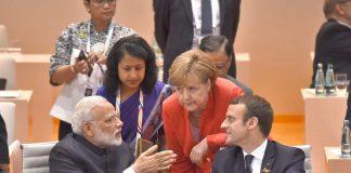 POWER TRIO: Prime Minister Narendra Modi at the Plenary Session of the 12th G-20 Summit, in Hamburg, Germany, UNI