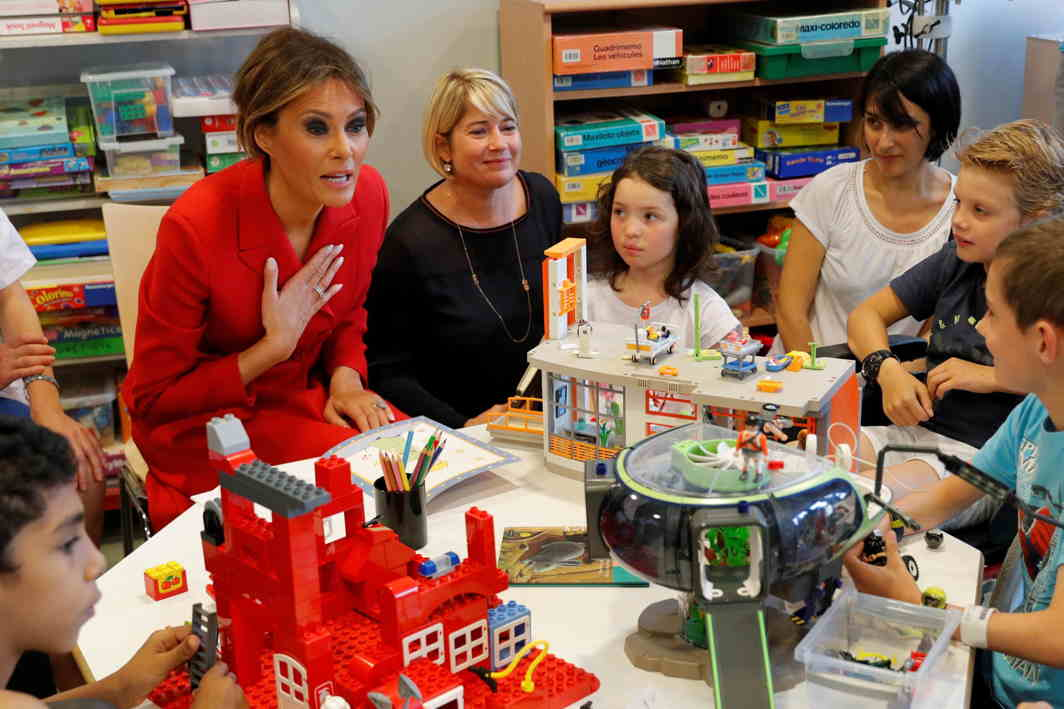 I AM KIND: US First Lady Melania Trump visits the Necker Hospital for Children in Paris, France, Reuters/UNI