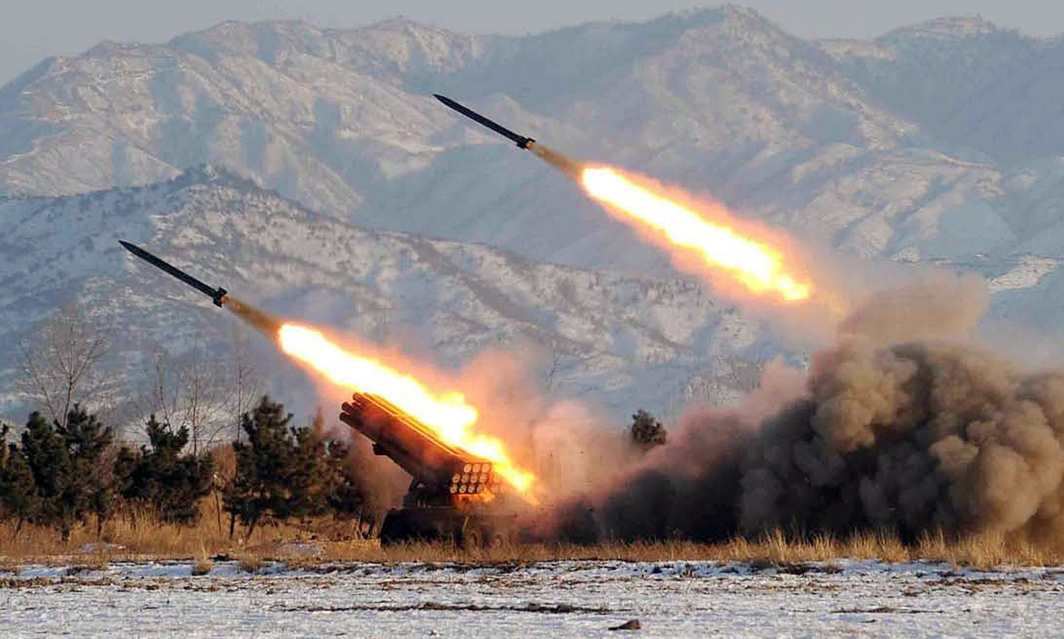 North Korea launches missiles hundreds of miles