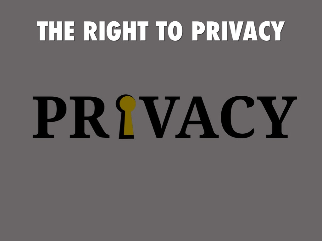 Right to Privacy A Fundamental Right