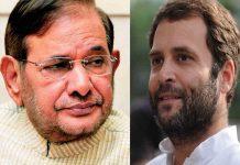 Rahul Gandhi and Sharad Yadav