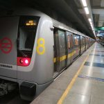 With one door open, Delhi metro train makes way from Chawri Bazar to Kashmiri Gate